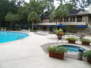 Pools abound on Hilton Head Island's only RV Resort
